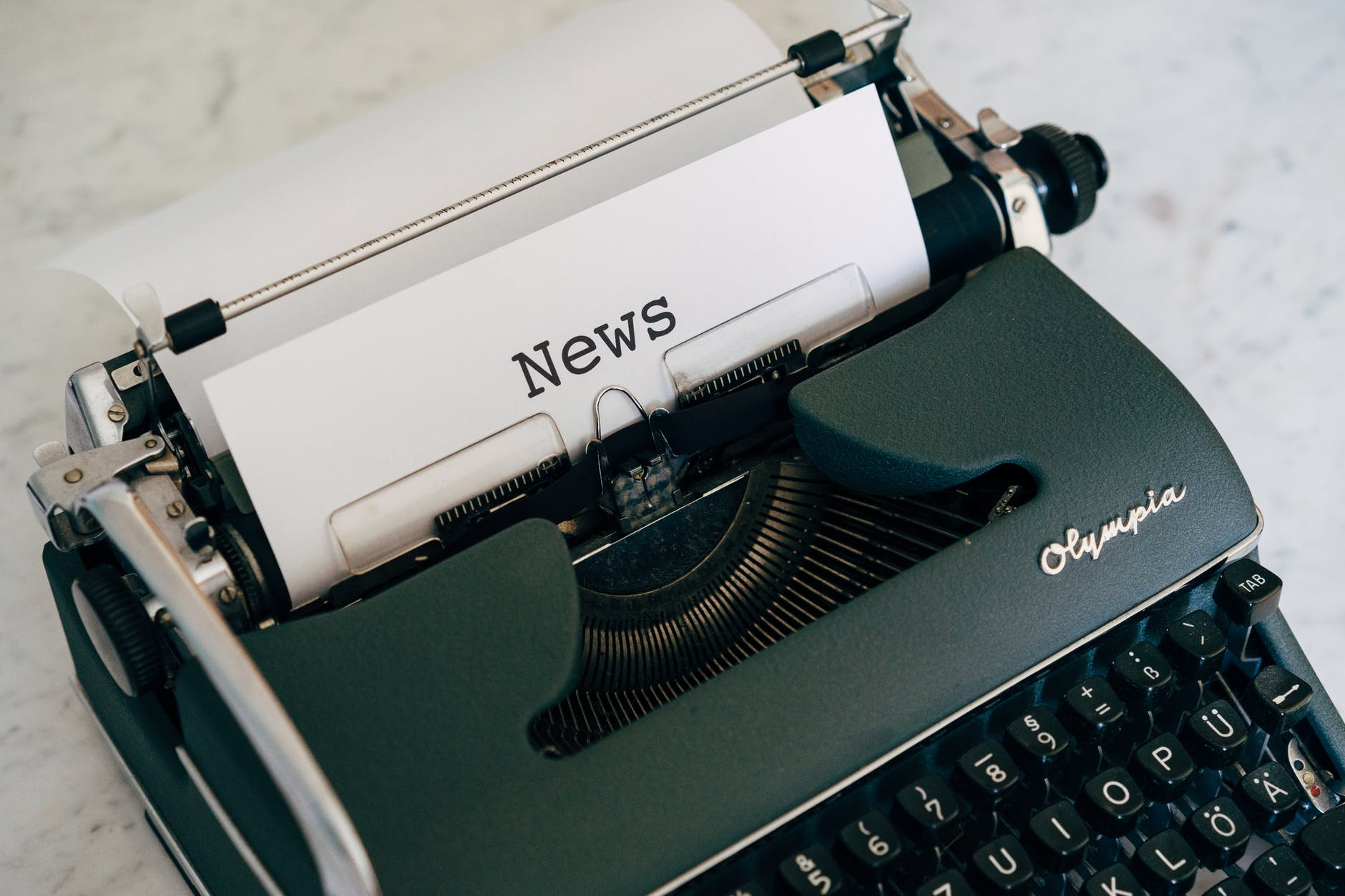news typewritten on white paper